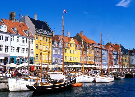 Denmark Copenhagen Nyhavn noted for it s colorful houses is a very popular place with many reststaurants and bars
